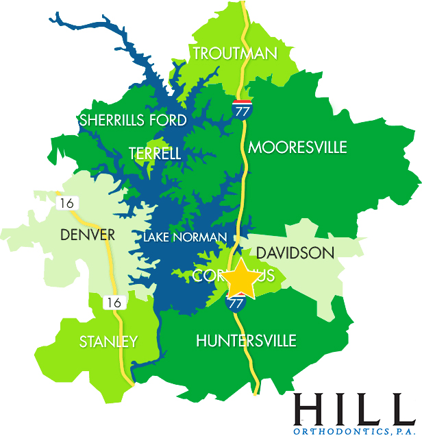 Ortho Map of Huntersville, Cornelius, Davidson and surrounding areas